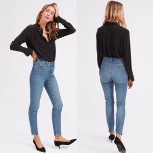 Everlane | High Rise Skinny Jeans Mid Blue Size 26